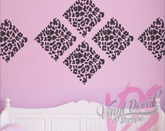 Leopard Print Wall Decal, Circle Leopard Print, Diamond Leopard Print,  Heart Leopard Print Part 97