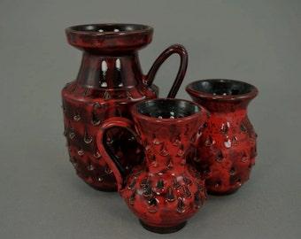 Vintage set of 3 vases / Fratelli Fanciullacci   Italy   70s