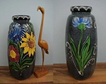 Vintage floor vase / Scheurich / 284 47 | West Germany | WGP | 60s