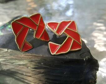 Brilliant Vintage Red Trifari earings