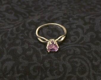 Sterling Silver Semi-Precious Stone Trillion Ring