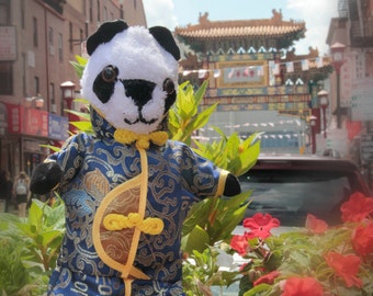 12-inch Panda with Chinese-style outfit