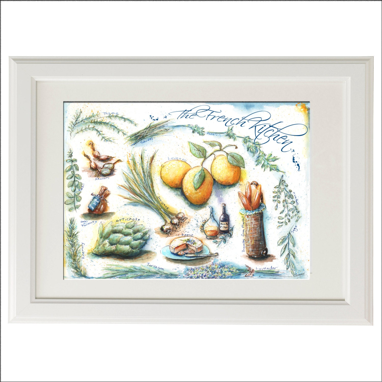 French Country Wall Decor Kitchen : Kitchen wall art french paris country