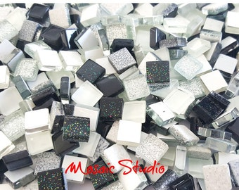 Mini Crystal Tiles 10x10mm - Galaxy mix 400pc