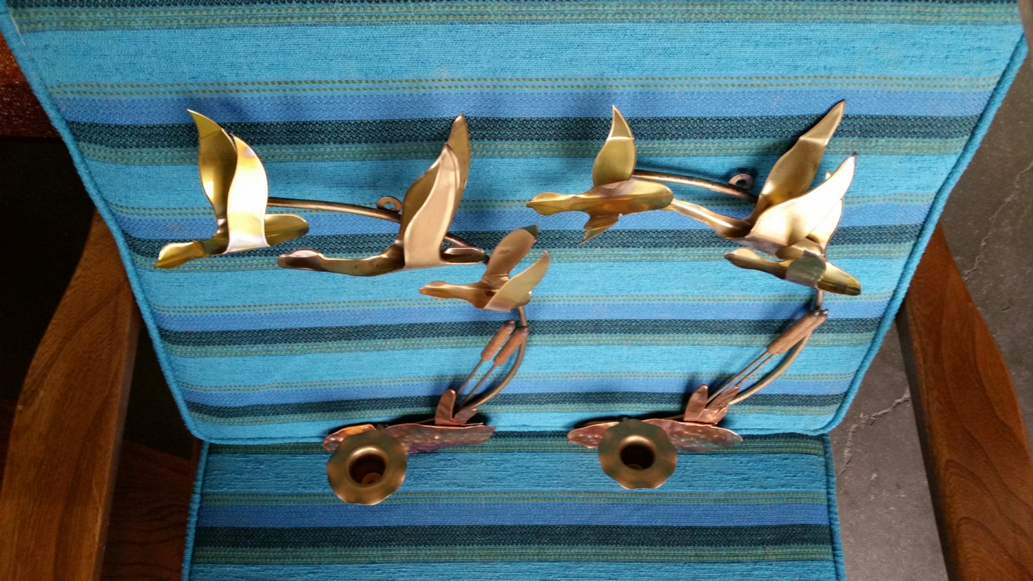 Metal Art Wall Sconces : Vintage 1960 s Metal Art Wall Sconces Mid Century Modern