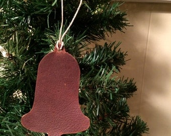 Leather Ornament - Bell