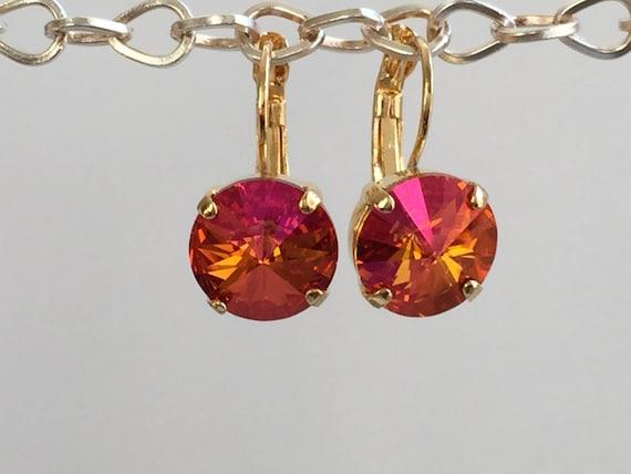 Astral Pink Crystal Earrings, Swarovski Astral Pink Earrings, Swarovski Crystal Earrings, Bridesmaid Earrings