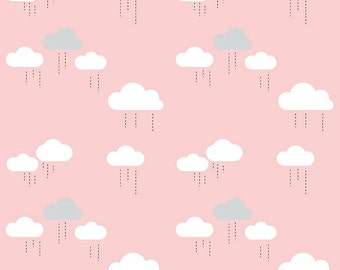 SALE!! 1 Yard When Skies are Grey by Simple Simon and Co. for Riley Blake Designs - 5602 Pink Clouds