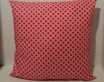 Red Decorative Pillow Cover 16x16