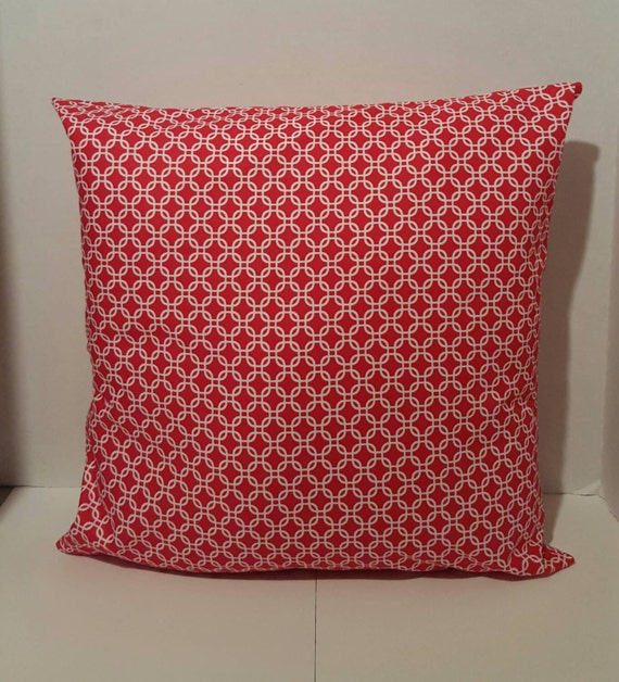 16x16 Decorative Pillow Covers : Red Decorative Pillow Cover 16x16