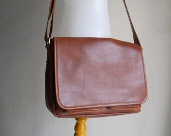Brown Crossbody Messenger Bag