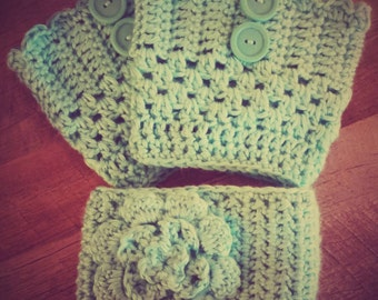 Boot Cuff and Head Wrap Set