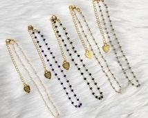 Petite Crystal Gemstone Chain Choker