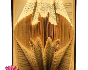 Folded Book Art 4 Letter Book Gift For Him Star Wars Custom