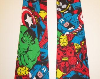 Marvel Comics Avengers Super Heroes Inspired Adult Neck Tie In Full Color, Adult Neckties, Super Hero Neckties