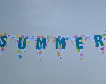 Summer wall banner