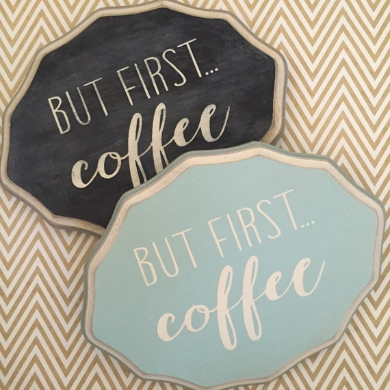Items similar to but first coffee 9x7 scalloped wood for 9x7 kitchen designs