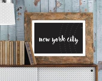 Printable New York City artwork, 11x17 wall art for NYC