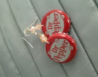 Bottle Cap Dangle Earrings