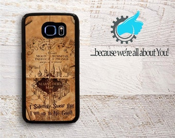 Harry Potter Phone Case.Rustic Marauder's Map Phone Cover For Samsung S4- S5- Mini- S6 -S7- Edge -Note 4- Note 5 Can add Monogramed or Name!