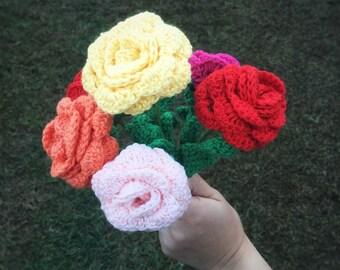 Crochet flower (single rose)