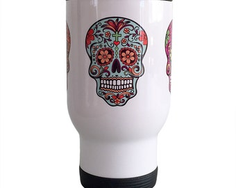 Travel Mug Sugar Skull