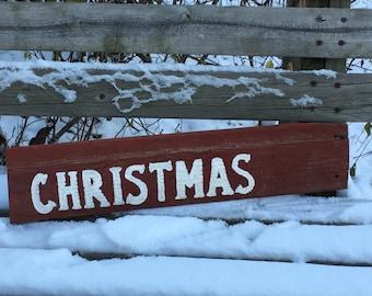 Christmas Barnwood Sign