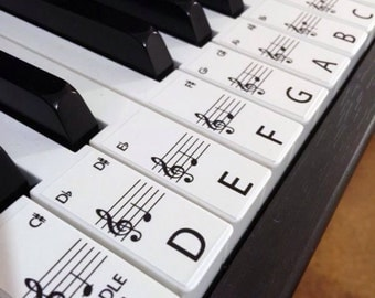 Keyboard / Piano Stickers up to 88 Keys the best way to learn Piano ***FREE WORLDWIDE SHIPPING***