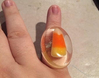 Resin candy corn ring
