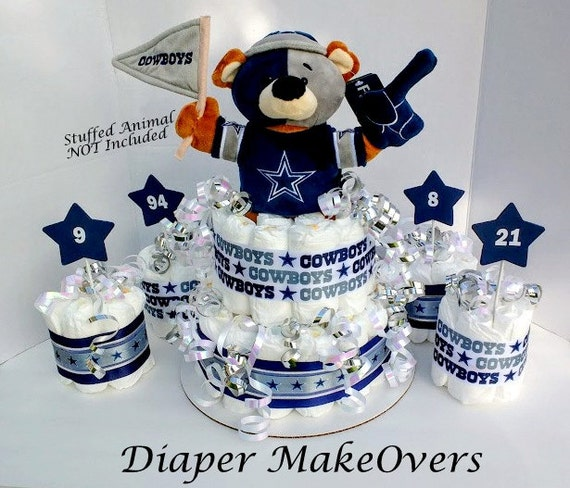 dallas cowboys theme baby shower centerpiece football diaper cake