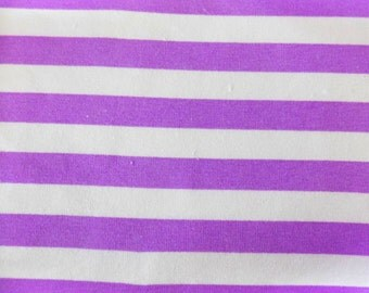 Knit Magic Purple 1/2 inch Stripes Fabric 1/2 yard