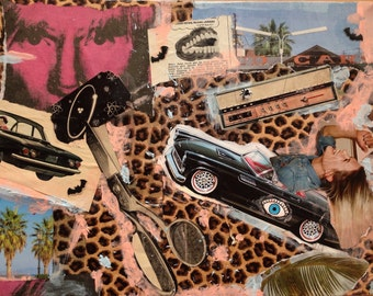 "Palms a'swayin 11""X 14"" collage"