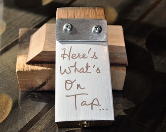 Dry Erase Beer Tap Handle on Napa Valley Wine Stave on sale!