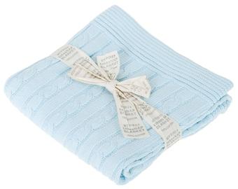 Knitted Baby Blanket Blue Baby Boy Blanket Crochet Stroller Blanket Baby Shower Gift Ideas