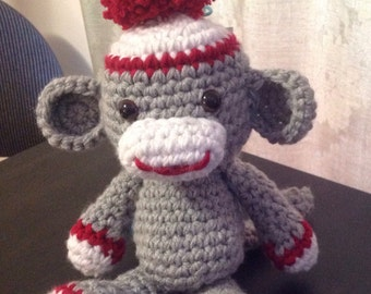 Sock Monkey-Stuffed Monkey-Stuffed Animal Monkey-Stuffed Sock Monkey-kids toy-