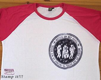 Raglan Shirt Music in my Soul - Baseball shirts, Woman Raglan shirt, Man Raglan shirt, Girl's Raglan shirt, Kids Raglan shirts, Boy's Raglan