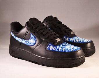 Custom Nike Air force 1 Black Acrylic Clouds