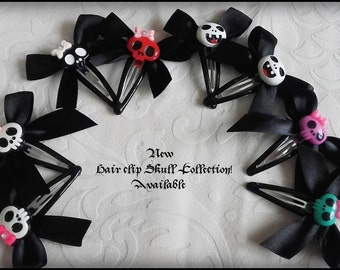 Creepy cute gothic hair clips