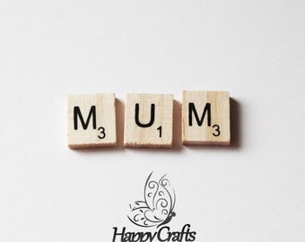 Wooden Letter Magnet Word Mum