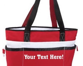 custom insulated cooler bag with zipper closure and pockets soft sided cooler great for - Soft Sided Coolers