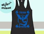 Pokemon Go - Team Mystic Tank. Womens Tank Top. Workout Burnout Tank.