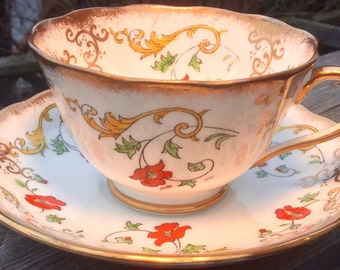 Gorgeous Royal Albert Crown China Teacup and Saucer
