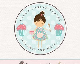 baking logo design baking classes logo baking blog logo cupcake logo design bakery logo bakers logo premade logo design girl baker logo
