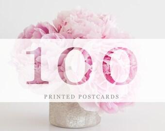100 Printed Postcards