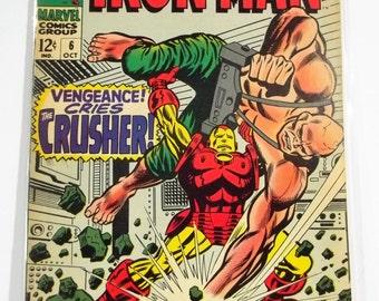 Invincible Iron Man 6 ; Marvel Silver Age Comic Books