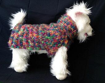 Angel Hair Jelly Bean, Wool Dog Sweater, Knit Dog Sweater, small dog sweater, dog sweaters, dog sweater, red dog sweater, red dog sweaters