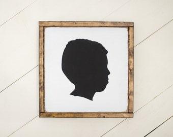 custom silhouette sign