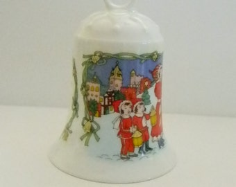 Hutschenreuther Germany Porcelain Bell Holiday Christmas Tree Ornament Bell