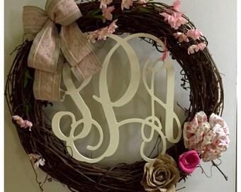 Shabby Chic Nursery Wreath