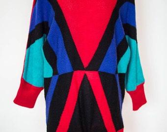 80's Geometric Jumper Dress